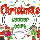 Christmas Alphabet Letter Sort