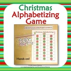 Christmas Alphabetizing Hands-On Game & Writing Activity {