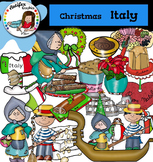 Christmas Around The World: Italy Clip Art- Color/ black&w
