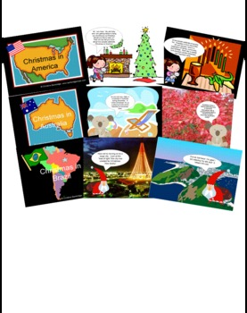 Christmas Around the World Powerpoints AND Flippy Book Bundle