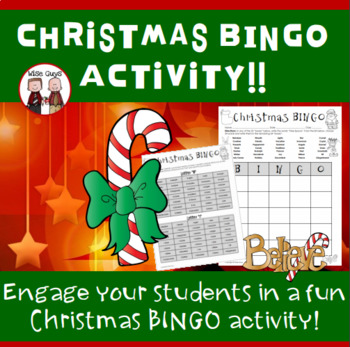 Christmas Bingo Game Activity for the Holidays