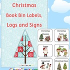 Christmas Book Bin Labels, Logs and Posters Classroom Libr