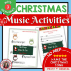 Christmas Carol Music Class Activities