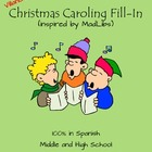 Christmas Caroling Fill-in in Spanish Inspired by MadLibs