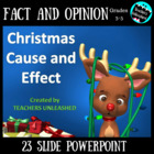 Christmas Cause and Effect PowerPoint Lesson Activity and