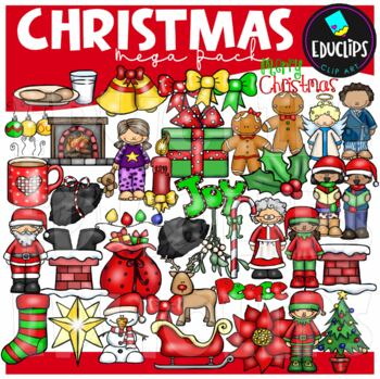 Christmas Clip Art Mega Bundle