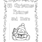Christmas Coloring Pages - Black and White - Printable - 67 pages