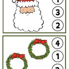 Christmas Clothespin Counting Game