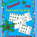 Christmas Coconut Tree Count and Clip Cards (Sets to 12)