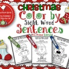 Christmas Color by Sight Word Sentences (Pre-Primer)