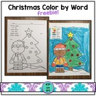 Christmas Color by Word FREEBIE!