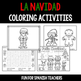 Christmas Coloring Activities in Spanish