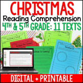Christmas Reading Comprehension Passages and Activities {J