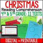 Christmas Common Core Literacy Pack 4th-5th Grade *7 Activities*