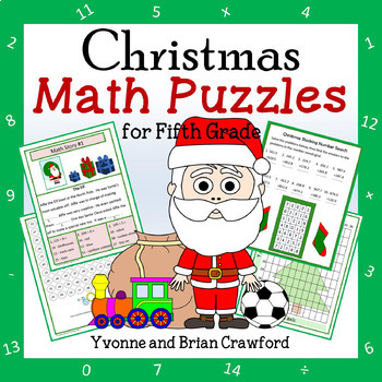 Christmas Common Core Math Puzzles - 5th Grade