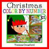 Christmas Common Core Picture Math (third grade)  Color by Number