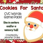 Christmas 'Cookie For Santa' CVC Word Game/Center!  CC Ali