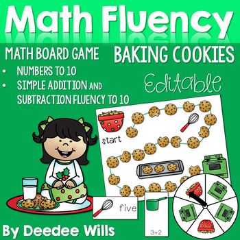 Christmas Cookies! Math Fluency Numbers 0-9, Addition and