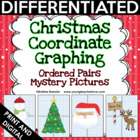 Christmas Coordinate Graphing Ordered Pairs {Mystery Pictures}