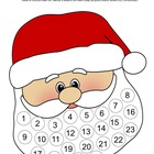 Christmas Santa Advent Calendar and Craftivity Freebie