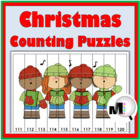 Christmas Counting Puzzles 1 - 120 {Common Core Aligned}