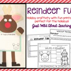 Christmas Craftivity { reindeer craft and writing printables }