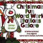 Christmas Fun Word Work Stations Galore-18 Differentiated