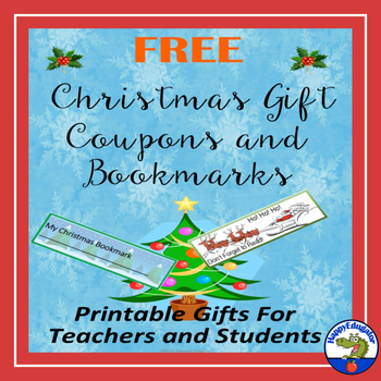 Christmas Gift Coupons and Bookmarks