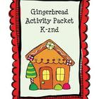 Christmas Gingerbread Activity Packet