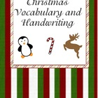 Christmas Handwriting and Vocabulary Building Sheets