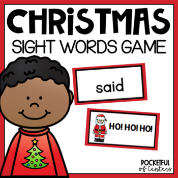 "Christmas ""Ho, Ho, Ho""  Sight Word Bang! Game"