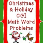 Christmas Holiday CGI Math Word Problems
