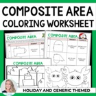 Christmas Holiday Composite Area Coloring Worksheet