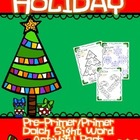 Christmas-Holiday Packet Dolch Pre-K/K Sight Word Activity
