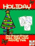 Print n Go Christmas-Holiday Packet Dolch Pre-K/K Sight Words