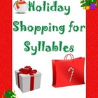 Christmas & Holiday Shopping For Syllables sorting activit