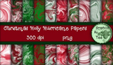 Christmas Holly Hurricane Papers