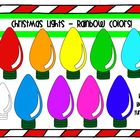 Christmas Lights -- Rainbow Colors!