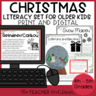 Christmas Literacy Set: Common Core 4th and 5th Grade