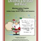 Christmas Literature and Music Missing Letters Puzzles