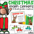 Christmas Math Centers First Grade