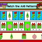 Christmas Math Freebie for Smartboard - AAB Patterns