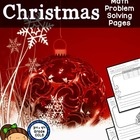 Christmas Math Problem Solving Sheets - Word Problems
