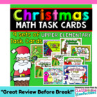 Christmas Math Task Cards BUNDLE for Upper Elementary {Gre