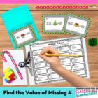 Christmas Math Task Cards {Find the Missing Number Additio
