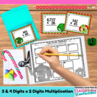 Christmas Math Task Cards {Multiplication - three and four