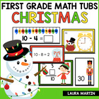 Math Tubs-Christmas First Grade Common Core Activities