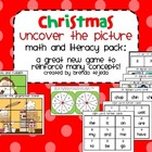 Christmas Math and Literacy Games: Uncover the Picture