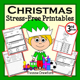 Christmas Math and Literacy Stress-Free Printables - Third