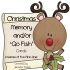 Christmas Memory & Go-Fish Cards!  ~2 Games In One!~ PreK-1 Fun!